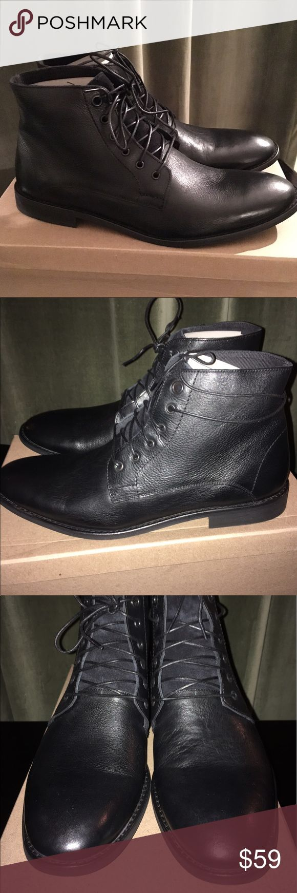 NWT Urban Outfitter Distressed Laceup Leather boot NWT in box distressed black leather black boot from Urban Outfitters Urban Outfitters Shoes Boots
