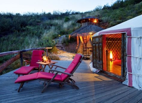 PORTUGAL - Algarve ECO-Lode ab 10 EUR Camping in Jurten deutschspr. | travel-friends.com