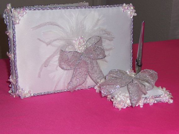 Wedding Guest Book and Pen by KaptivatingKreationz on Etsy