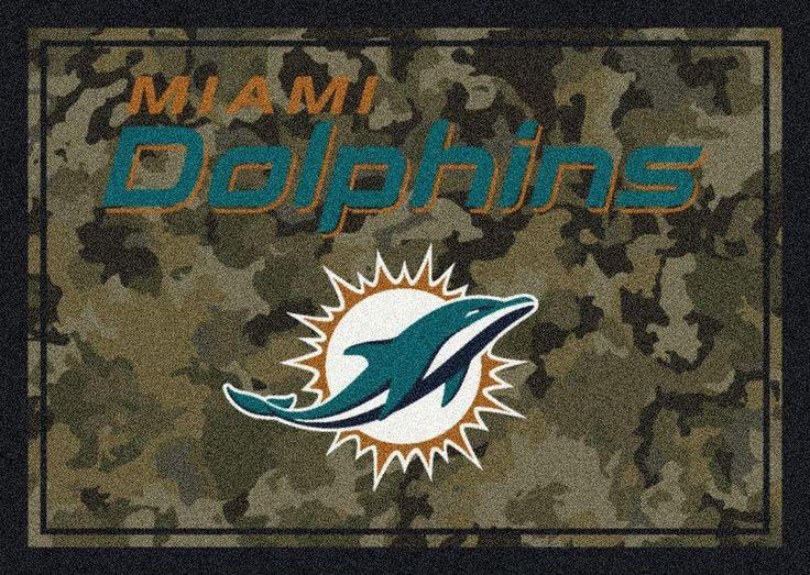 Miami Dolphins Rug NFL Team Camo