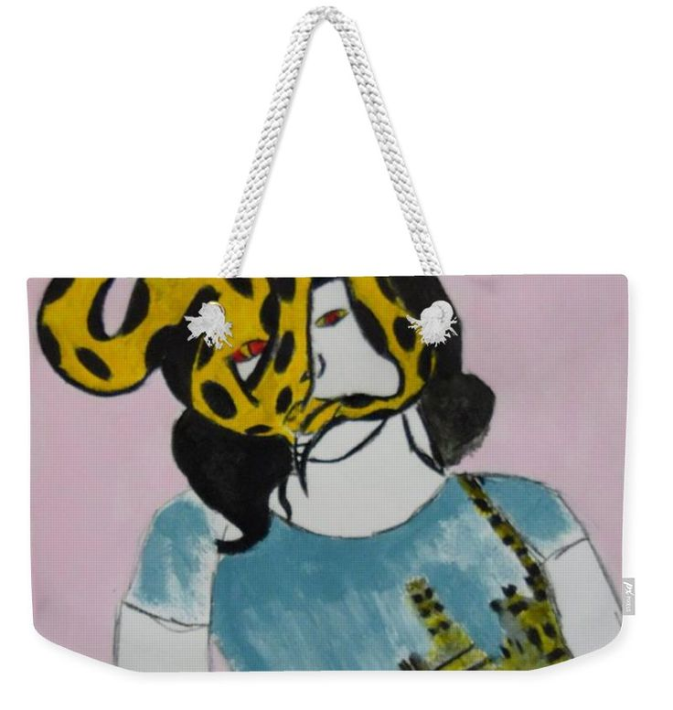 Snake Weekender Tote Bag featuring the painting Snake City by Nicole Burrell