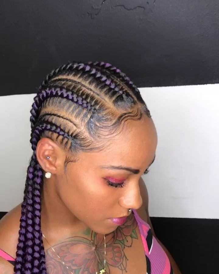 I Wish My Clients Would Try Different Colors Feedinbraids Feedincornrows Stitchbraids Braids Natu With Images Lemonade Braids Hairstyles Girls Hairstyles Braids
