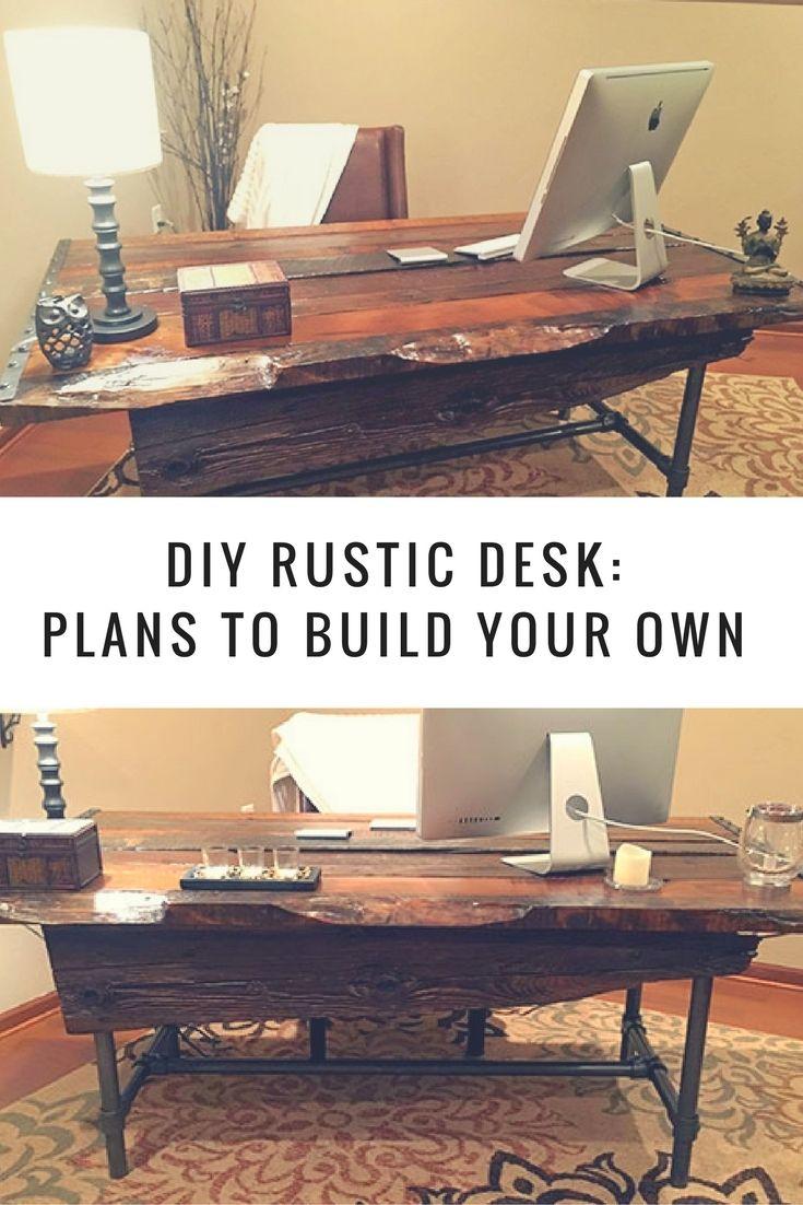 316 best pipe desks images on pinterest. Black Bedroom Furniture Sets. Home Design Ideas