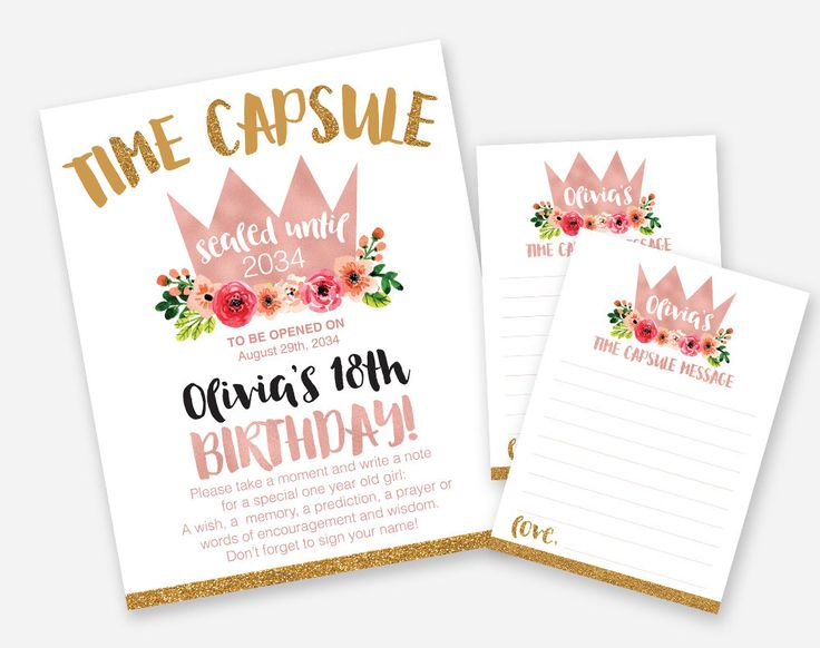 Girls Rose Gold Wild One Time Capsule, 1st birthday Invitation Floral invitation, Rose Gold Invitation, Wild one Invitation