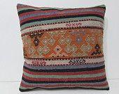 20x20 lakehouse kilim pillow chair pillow case floor pillow colourful cushion case victorian decor retro home decor turkish rug pillow 27857