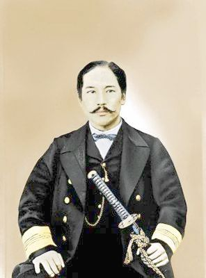 Takeaki_Enomoto. After the defeat of the Tokugawa Shogunate in the Boshin War (1869), a part of the former Shogun's navy led by Admiral Enomoto Takeaki fled to the northern island of Ezo (now known as Hokkaidō), together with several thousand soldiers and a handful of French military advisors and their leader, Jules Brunet. Enomoto made a last effort to petition the Imperial Court to be allowed to develop Hokkaidō and maintain the traditions of the samurai, but his request was denied.