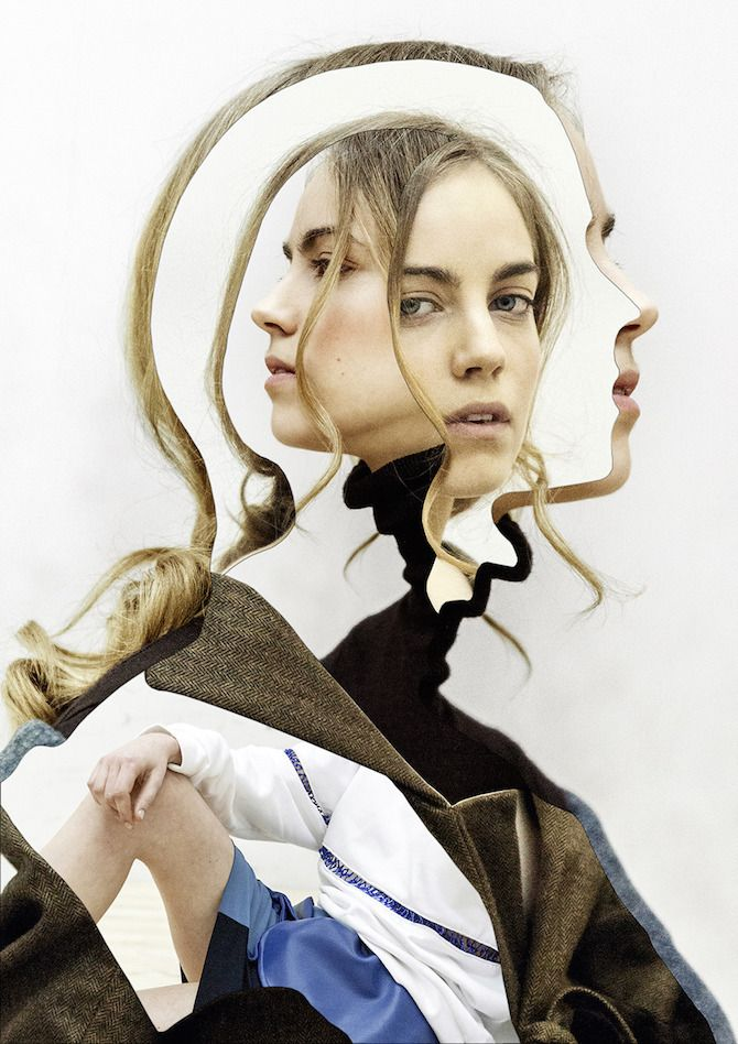 With just a conventional utility knife, Madrid based photographer and artist Pablo Thecuadro cuts apart fashion editorials and photographs to create collages. I love the surreal, trompe l'oeil quality to them - you can literally spend minutes just admiring each piece!
