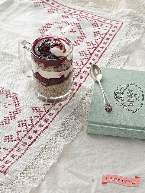 Chia Quinoa Parfait from Sarah Wilson's best-selling I Quit Sugar cookbook. Pre-order your US copy today!
