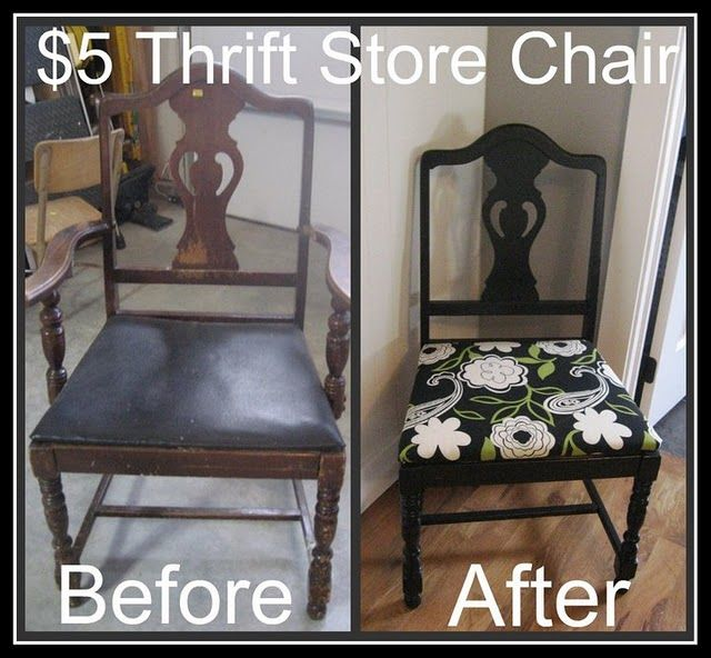 Thrift store chair redo: Diy'S Furniture, Air Blog, Stores Chairs, Chairs Makeovers, Diy'S Projects, Thrift Stores, Diy'S Chairs, Thrift Chairs, Chairs Redo