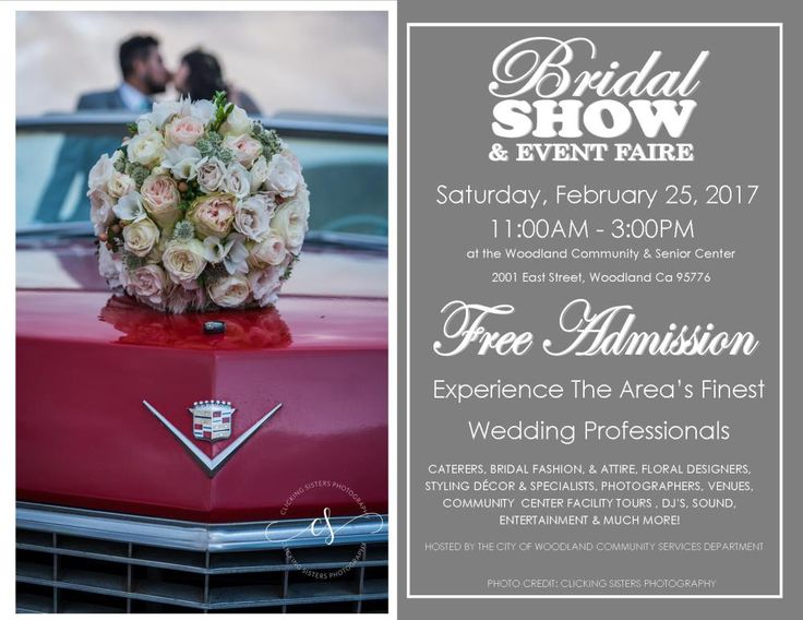Who's getting married?! Don't miss the City of Woodland Bridal Show & Event Faire THIS Saturday, February 25th, from 11 a.m. - 3 p.m. at the Woodland Community Center! Will you be there?  Stop by to get a complimentary copy of Real Weddings Magazine and enter to win $100 to Fat's Asia Bistro Folsom/Fat's Asia Bistro Roseville from our booth at this show!  Follow the link below for more!  #WoodlandWeddings #CityOfWoodlandBridalShowAndEventFaire #RealWeddingsMag #RealWeddingsSac