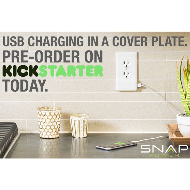 The SnapPower Charger is here! This is the USB charger you'll never lose and leaves both outlets free for use at all times! Check it out here https://www.kickstarter.com/projects/snappower/snappower-charger-a-usb-charger-in-a-coverplate-no?ref=nav_search