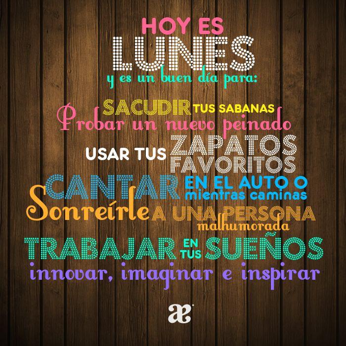 Toca experimentar. Buenos días Lunes!! #AndreaQuotes #Monday #Lunes