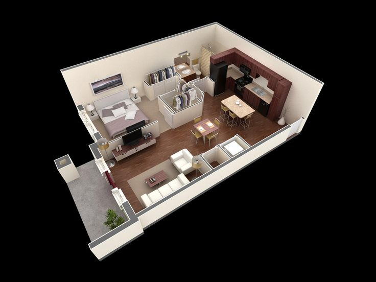 1000 ideas about One Bedroom House Plans