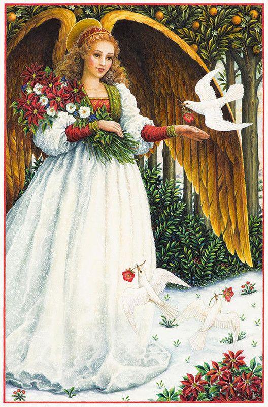 Ange de Noël - Lynn Bywaters......................lbxxx.