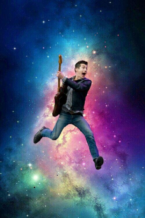 Feeling like Alex Turner playing guitar in space