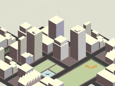 Dribbble - Cityscape Animation by Kurtis Beavers
