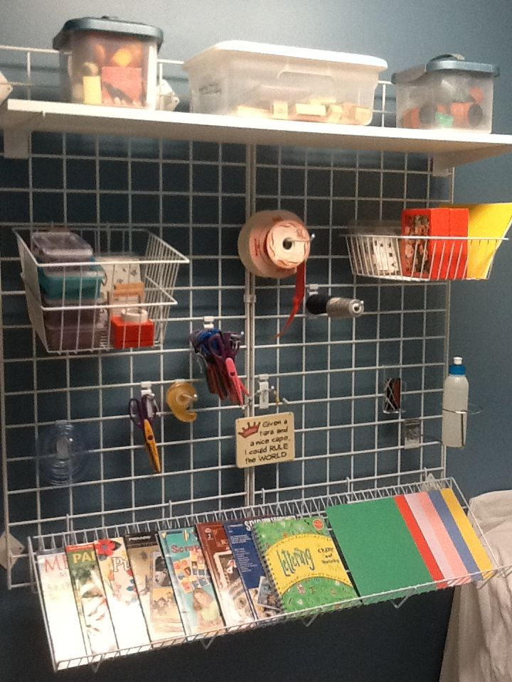 organized craft rooms love gridwall so easy to use