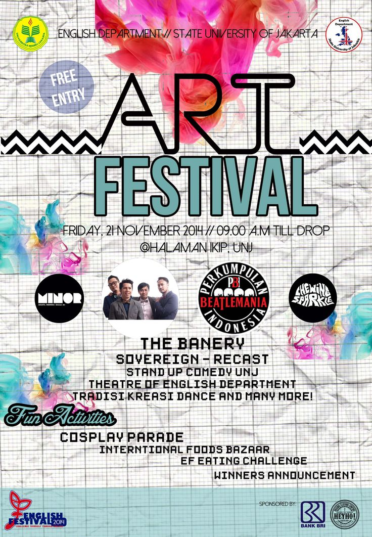 Flyer Art Festival- E FEST #uchiliciousproject #2014