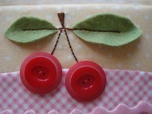 Lori Holt; button cherry embellishment by Jeanette Sherrick