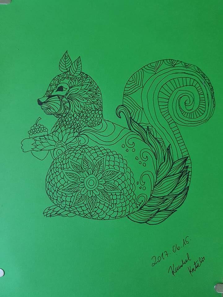 Zentangle rajz - Kamhal Katalin