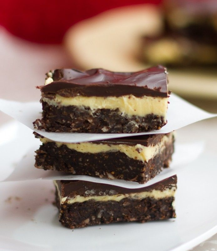 Nanaimo Bar - Award winning recipe. Made this and it was PERFECT! So easy and Crazy good! Scoring the chocolate a Must. Put in fridge for about 20 - 30 minutes after the chocolate is spread. Cut into squares after completely cooled.