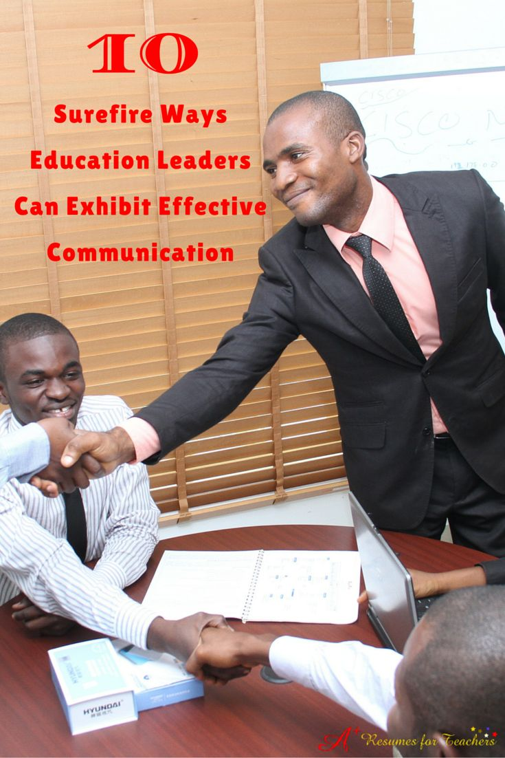 10 Surefire Ways Education Leaders Can Exhibit Effective Communication Take the time to read these tips if you are interested in brushing up on your communication skills within your role in a school community, college, university or organization or to be prepared when you land an educational leadership position.https://www.linkedin.com/pulse/10-surefire-ways-education-leaders-can-exhibit-alstad-davies