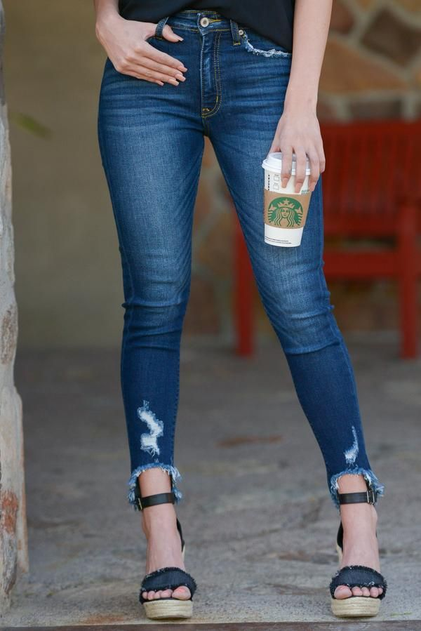 dc8929a679e4 KAN CAN Distressed Skinny Jeans - Mallory Wash   Closet Candy ...