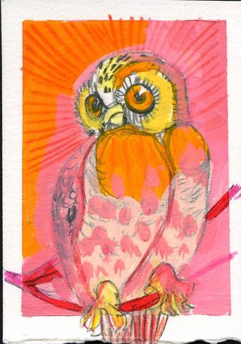 'Pink Owl' by pippaandpom