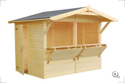 Cumber garden shed - A uniquely designed garden shed with large serving hatchs and bar