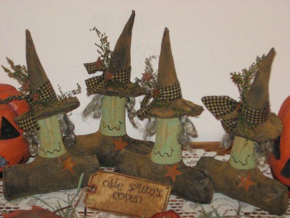 Primitive Raggedy Olde Salem Witch Bowl Filler by StykesandStones, $5.00