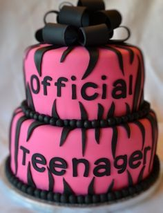 boys 13th birthday party ideas | ... birthday cake! Switch to blue or whatever other color for a boy
