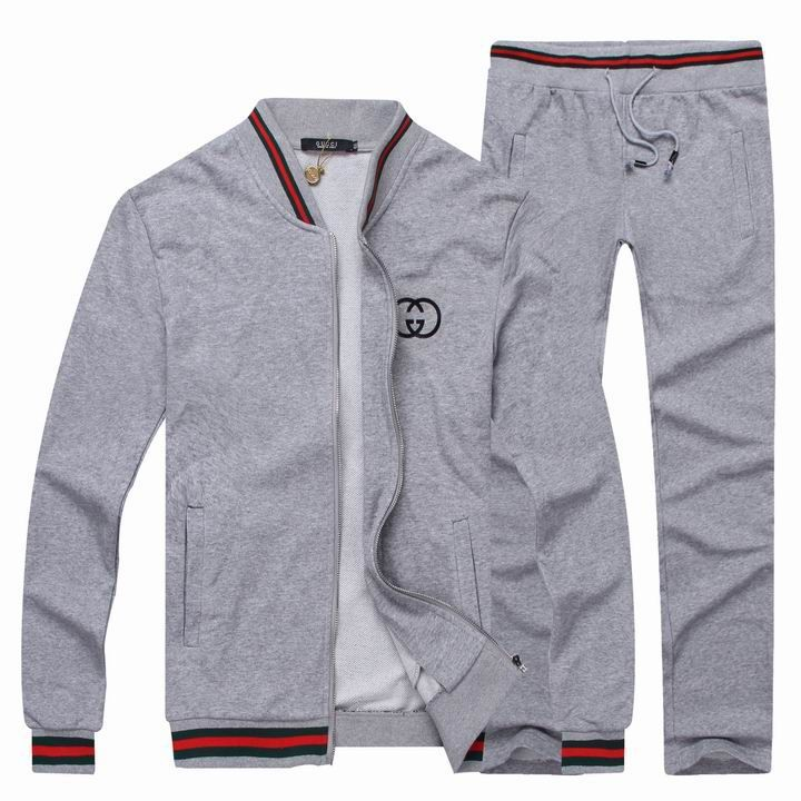 5a9b0519b07 Gucci Men s Fashion Tracksuit Grey www.saleurbanclothing.om