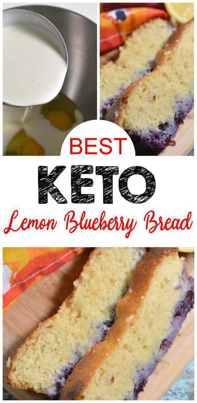 BEST Keto-Brot! Low Carb Lemon Blueberry Laib Brot Idee – Quick & Easy Ketogene Diät Rezept – Komplett Keto-freundlich – Glutenfrei – Zuckerfrei
