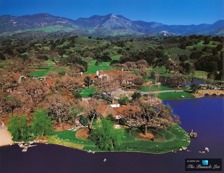 Aerial View of Michael Jacksons Neverland Valley Ranch - 5225 Figueroa Mountain Road, Los Olivos, CA