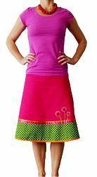 Pink Spring - unique designed A-line skirt