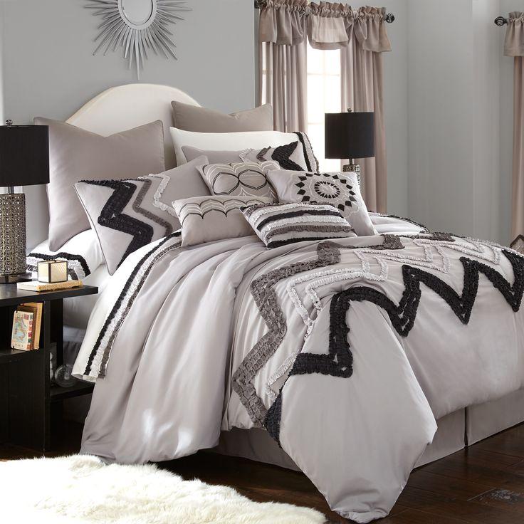 Amrapur Overseas Kira Grey 24 Piece Comforter Set By Amrapur Overseas