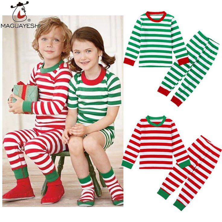 >> Click to Buy << Spring Autumn Children's Clothing Suit Stripe 2PCS Coat Pant Girl Boy Clothes Set Christmas Tracksuit Set Long Sleeve Kid Outfit #Affiliate
