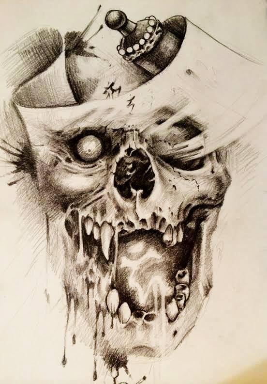 Chronic Ink Tattoo - Toronto Tattoo. Custom skull sketch by Damon.