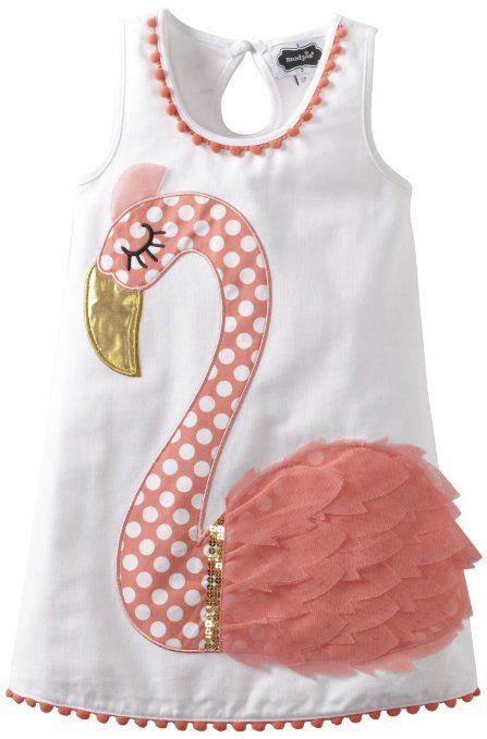 Amazon Mud Pie Girls 2 6x Flamingo Cotton Dress