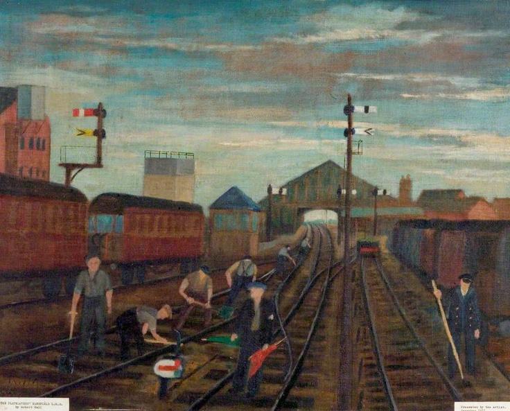 The Platelayers, Mansfield, London, Midland and Scottish Railway - R Hall