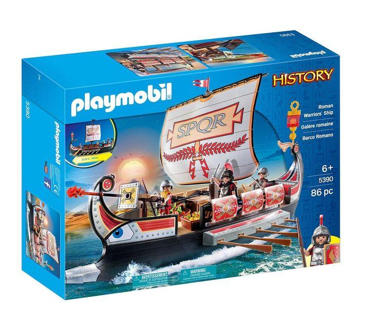 PLAYMOBIL Roman Warriors Ship Toy Gift for Boys Kids Play Christmas Birthday   #PLAYMOBIL