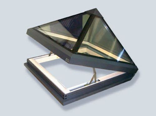 Swing roof window / aluminum / double-glazed / thermal break GV PYRAMID GLAZING VISION
