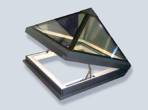 Swing roof window / aluminum / double-glazed / thermal break GV PYRAMID GLAZING VISION