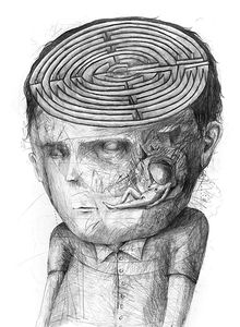 Stefan Zsaitsits Labyrinth Pencil on paper 50 x 70 cm