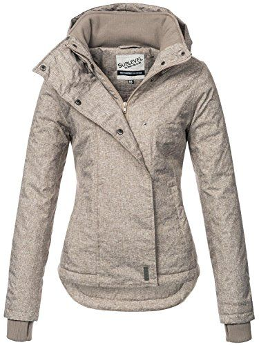 Sublevel Sportliche Damen Winter Jacke 46550D1 in Braun Gr