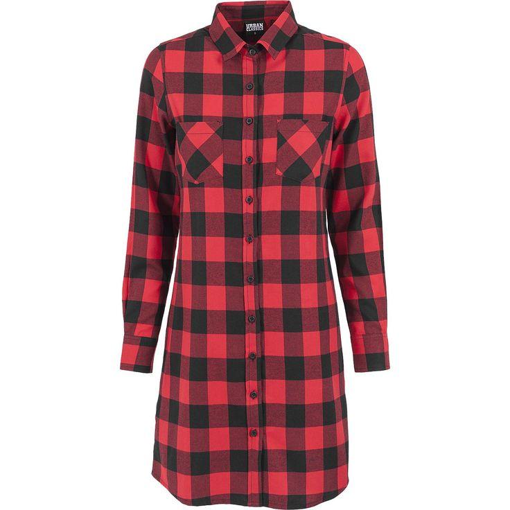 Urban Classics Flanellskjorta »Skjortklänning, rutig flanell« | Köp i EMP | Mer Casual Flanellskjortor finns online ✓ Oslagbara priser!