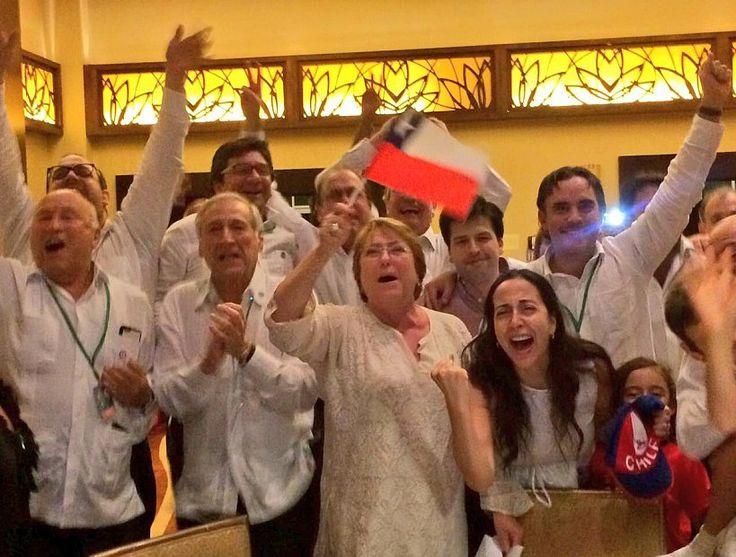 Bachelet celebró en Panamá el nuevo título de la Roja