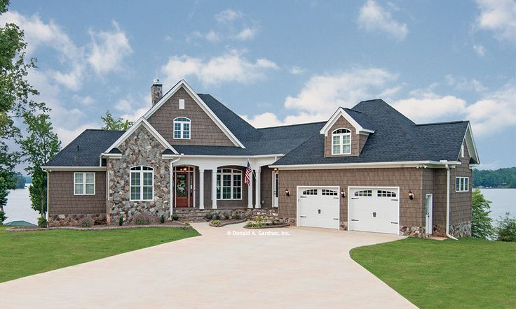 Welcome to the chatsworth this hillside walkout home sits for Hillside garage plans