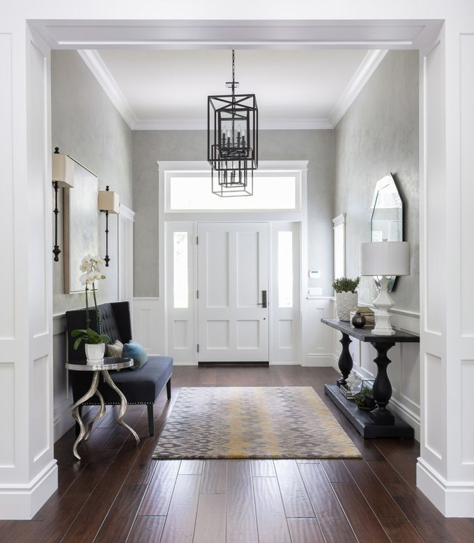 1000 ideas about small foyers on pinterest foyer for Hallway furniture ideas