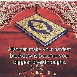 Put your complete trust in only Allah. Seek help through patience and prayer.